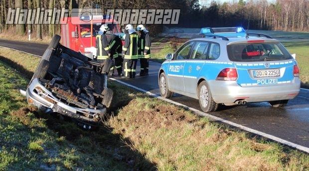 Unfall Pulsnitz + Verletzter FW-Mann