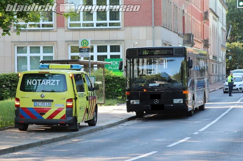 Radeberg: Busfahrer stirbt an Haltestelle