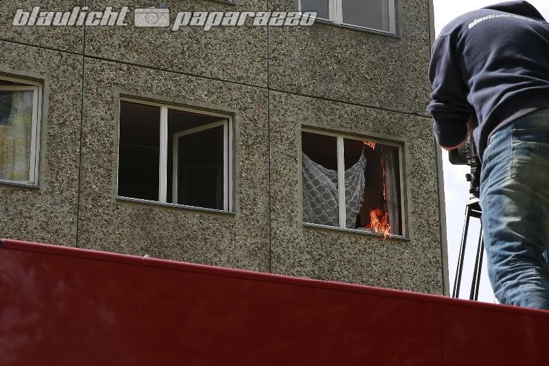 Doberschau: Feuerwehr wird für Filmdreh zum Brandsifter