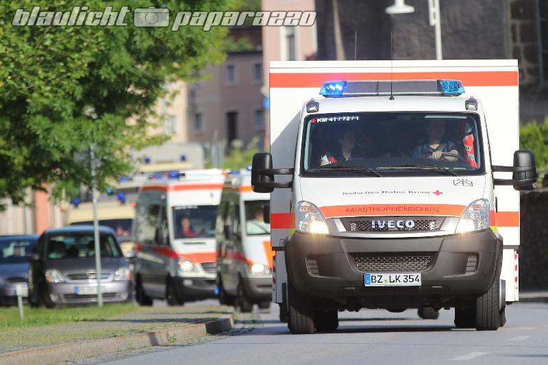 Kamenz: Großer Rettungseinsatz auf dem Hutberg