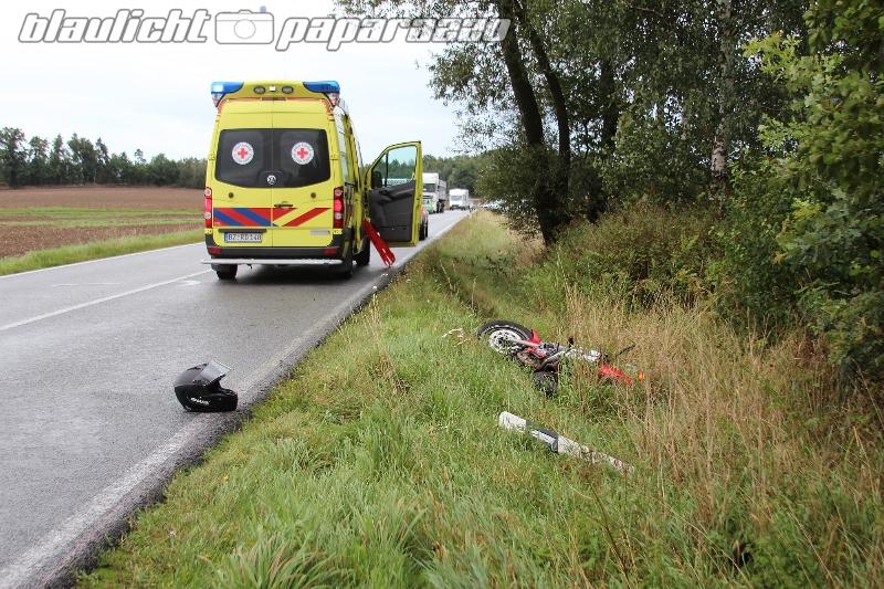 Leppersdorf: Wieder ein Motorradunfall