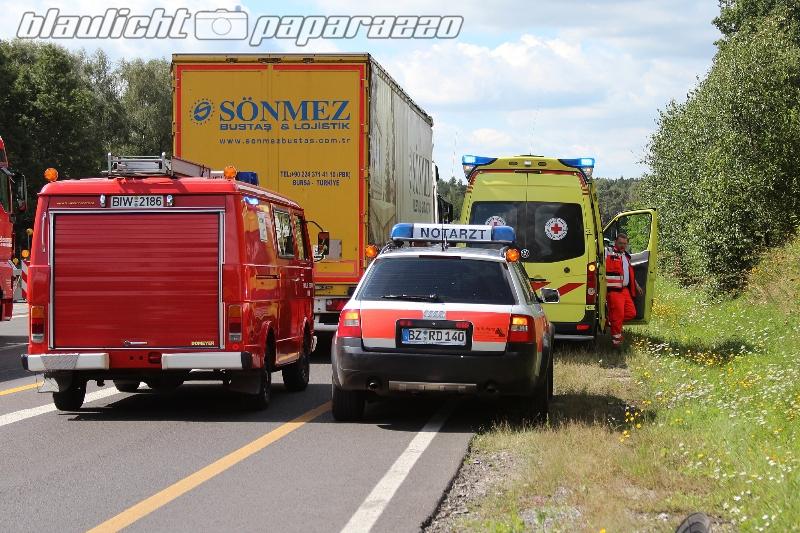 Ohorn: Internationaler Unfall auf der Autobahn