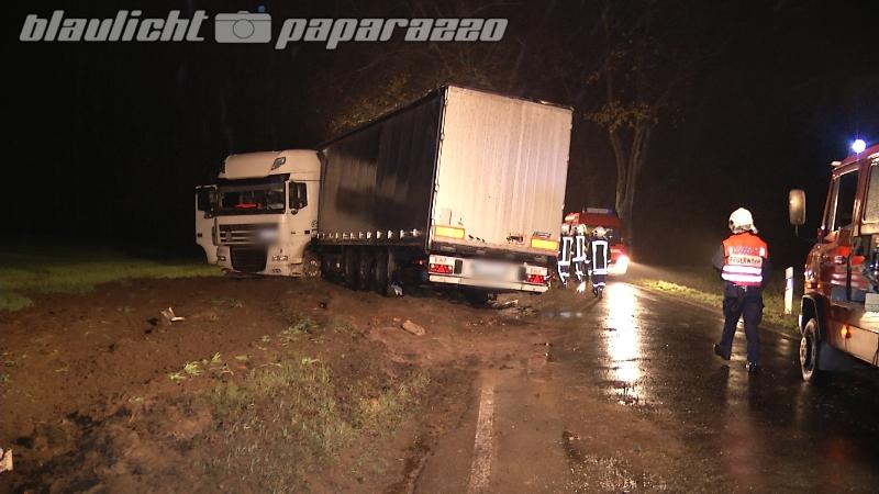 LKW Unfall bei Kamenz