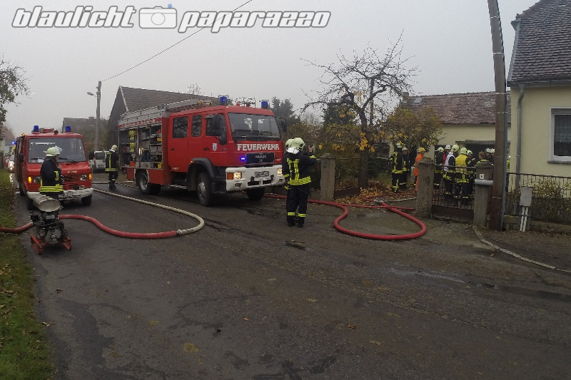 Gas-Verpuffung in Skaska bei Kamenz