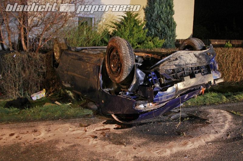 Spektakulärer Unfall bei Kamenz