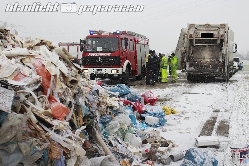Koitzsch: Müllauto gerät in Brand