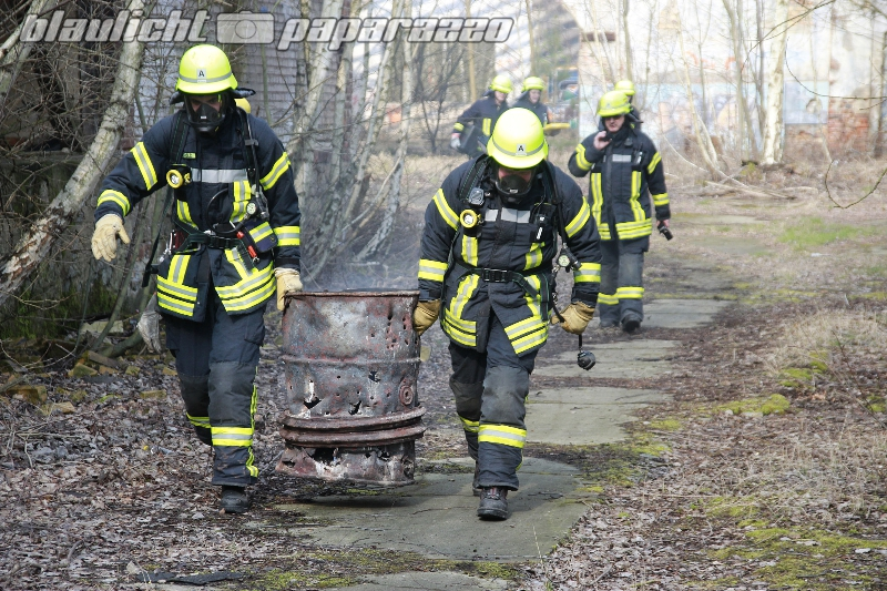 Kamenz: Feuerwehreinsatz am alten Glaswerk