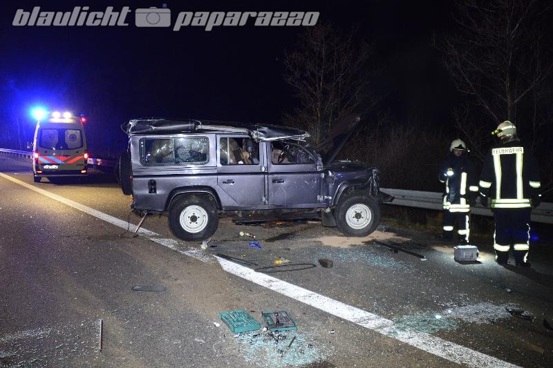 Spektakulärer Unfall auf der A4 bei Leppersdorf