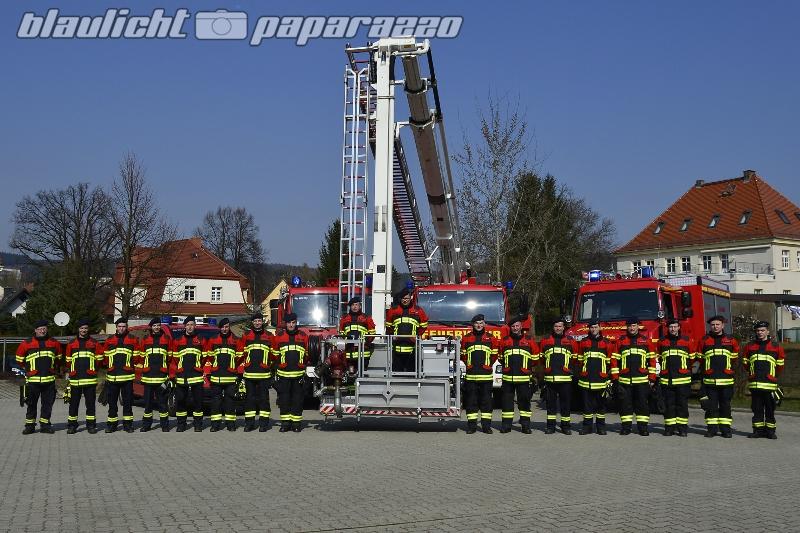 Wilthen: Feuerwehrjacken sind natürlich rot