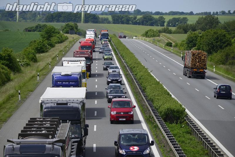 Wieder Stau nach Unfall auf der A4
