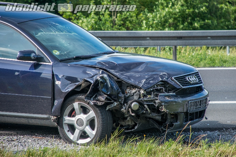 Auffahrunfall auf der Autobahn bei Ohorn