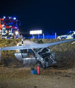 Schwerer Unfall am Eierberg-Kreisel bei Pulsnitz