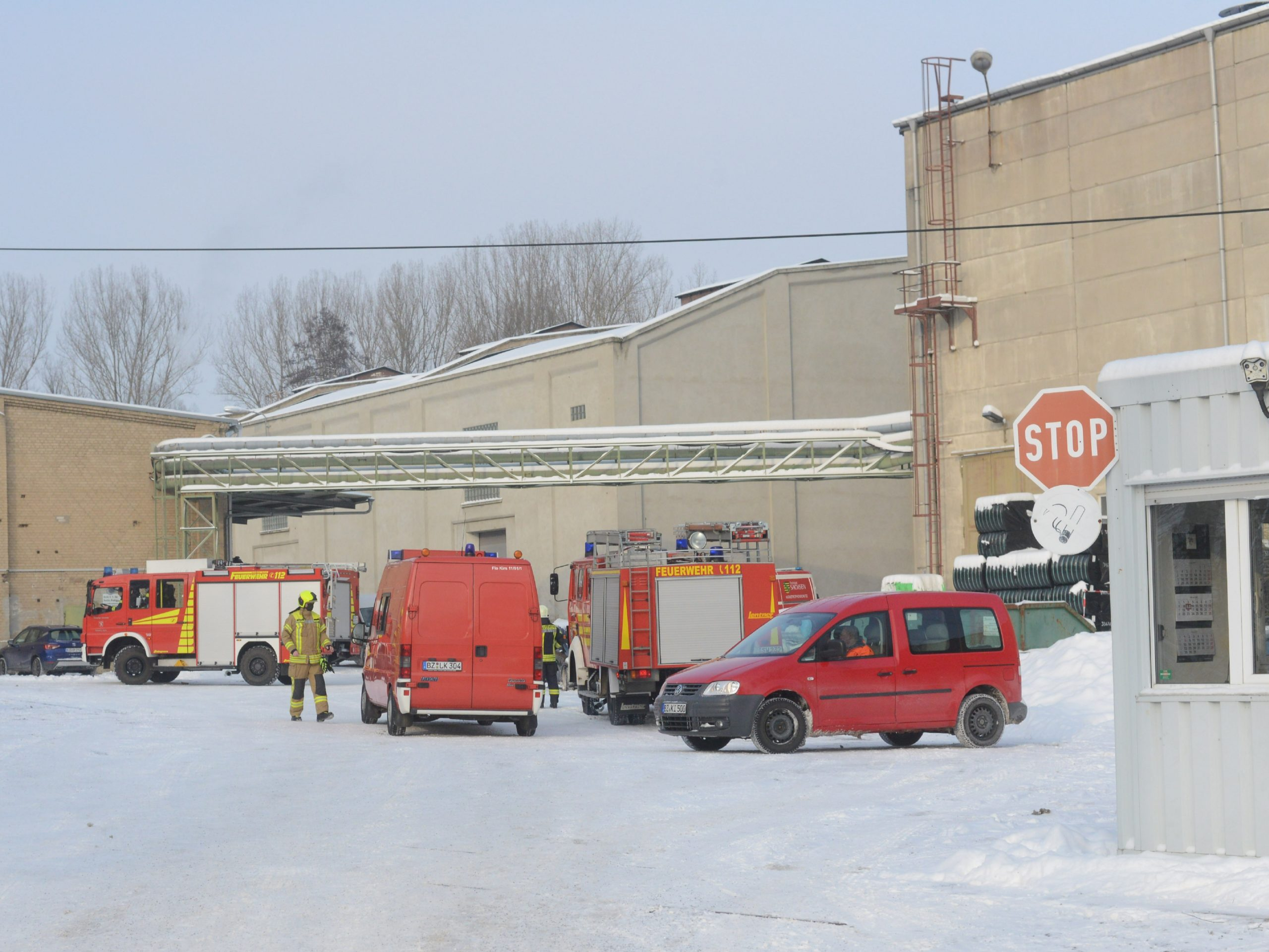 Brand-in-Lagerhalle