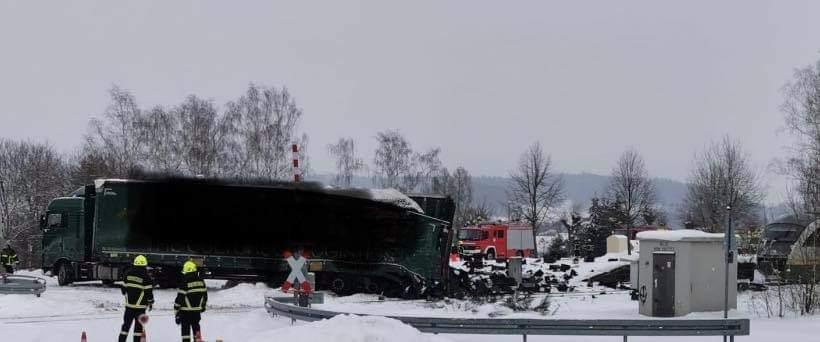 Zug-erfasst-LKW